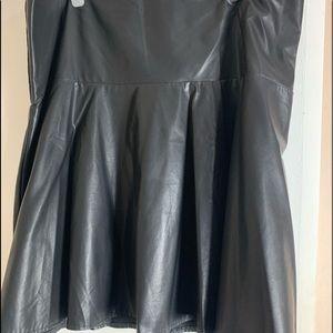 Lane Bryant Pleather Skirt
